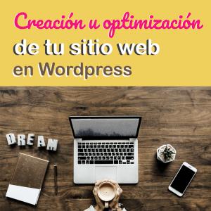 creación u optimización de tu sitio web en wordpress