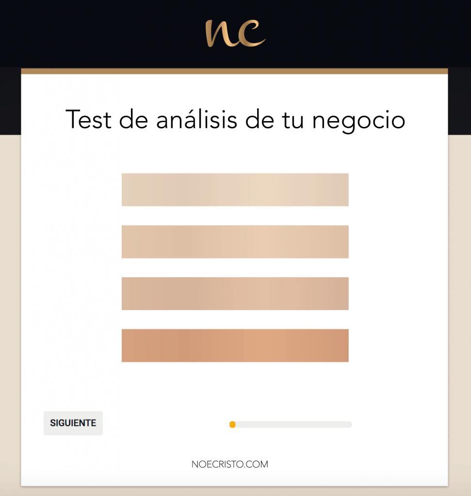 test de análisis de tu negocio