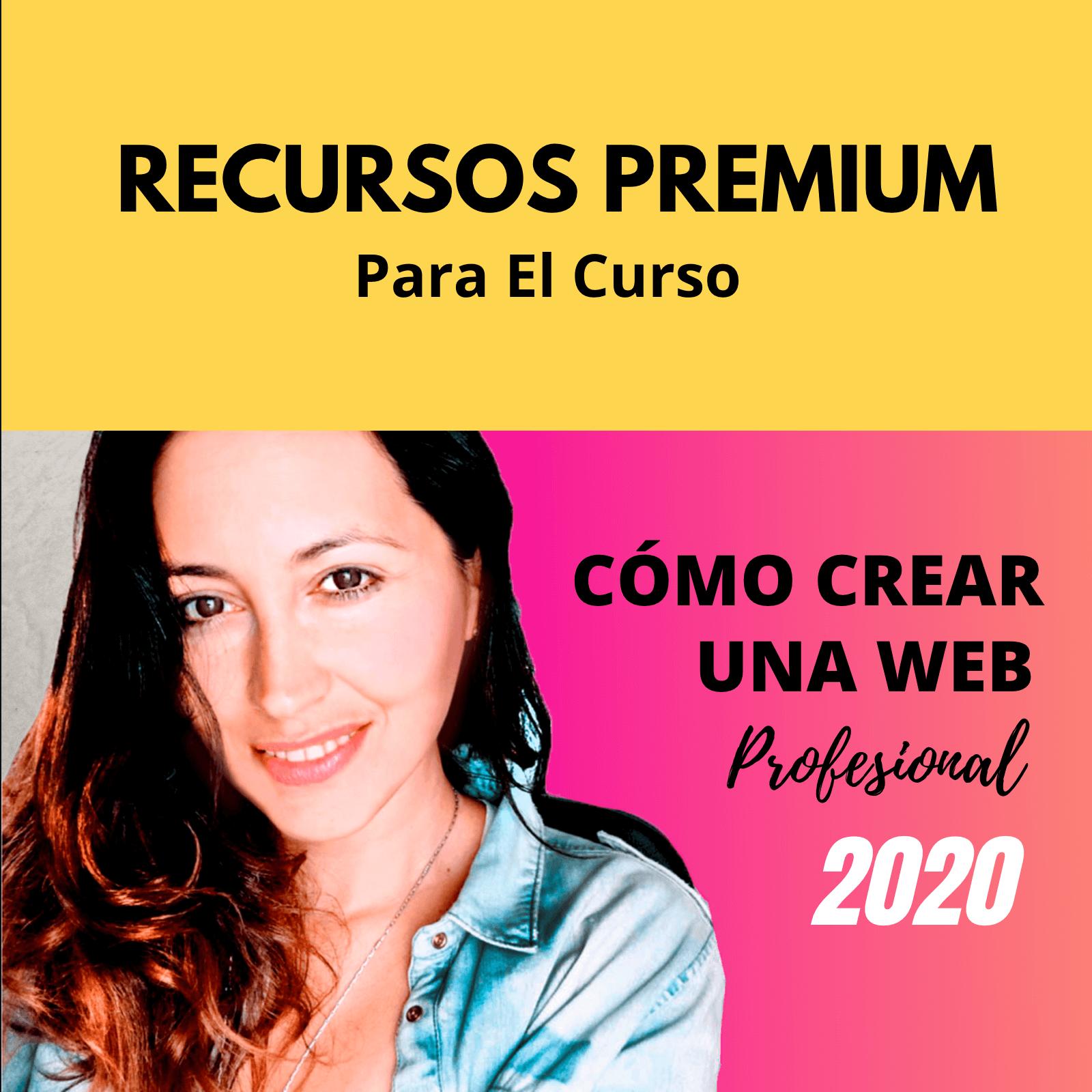 recurso premium curso crea tu web
